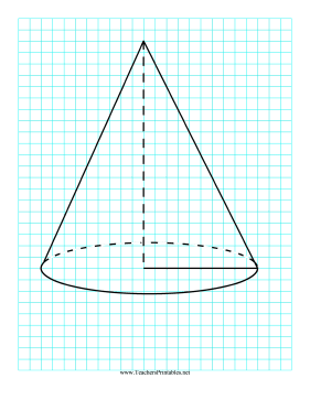 3D Shapes Cone Teachers Printable