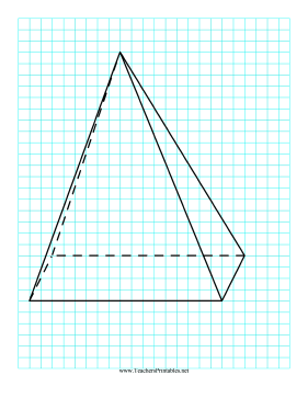 3D Shapes Pyramid Teachers Printable