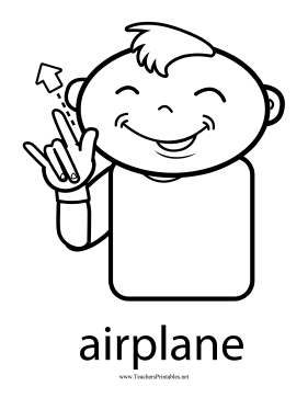 Airplane Sign Teachers Printable