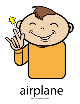 Airplane Sign Color Teachers Printable
