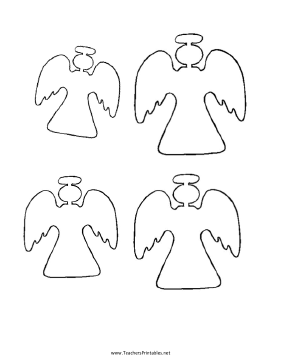 Angel Templates Teachers Printable