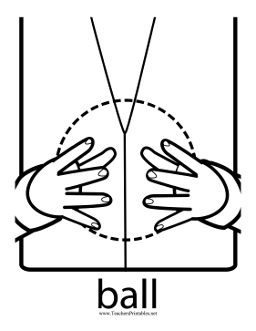 Ball Sign Teachers Printable