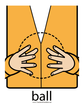 Ball Sign Color Teachers Printable
