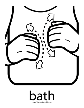 Bath Sign Teachers Printable