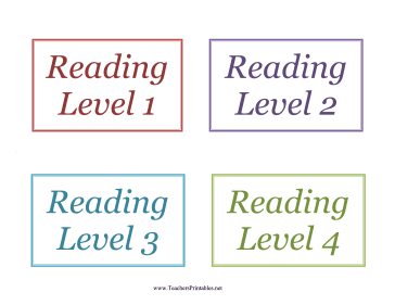 Book Bin Labels Reading Levels Teachers Printable