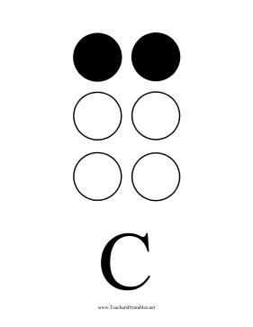 Braille C Teachers Printable
