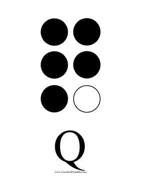 Braille Q Teachers Printable