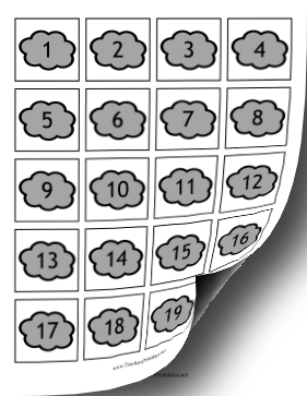 Calendar Dates Clouds Teachers Printable