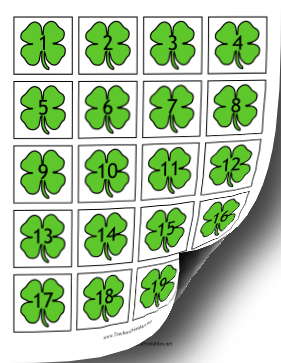 Calendar Dates Shamrocks Teachers Printable