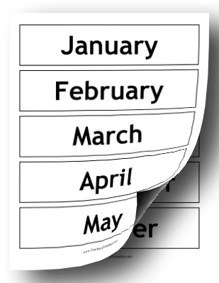 Calendar Months Teachers Printable