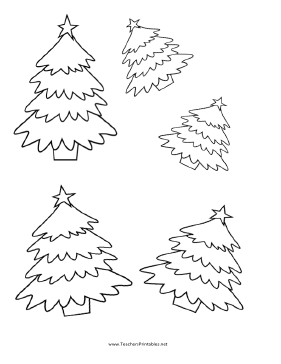Christmas Tree Templates Teachers Printable