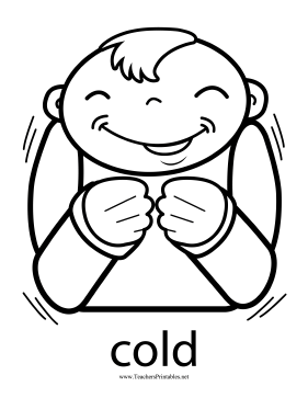 Cold Sign Teachers Printable