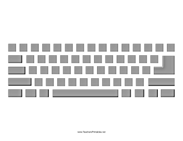 Computer Keyboard with Buttons Teachers Printable