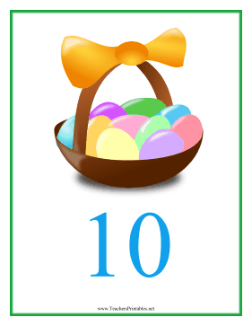 Count Chart 10 Easter Teachers Printable