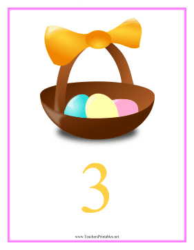 Count Chart 3 Easter Teachers Printable