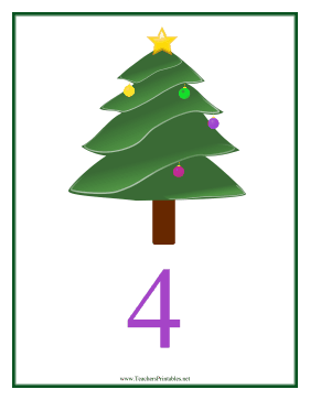 Count Chart 4 Christmas Teachers Printable