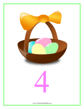 Count Chart 4 Easter Teachers Printable