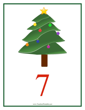 Count Chart 7 Christmas Teachers Printable