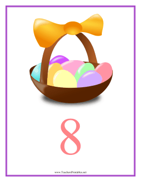 Count Chart 8 Easter Teachers Printable