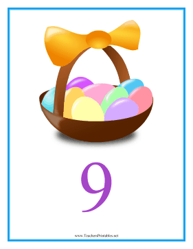 Count Chart 9 Easter Teachers Printable
