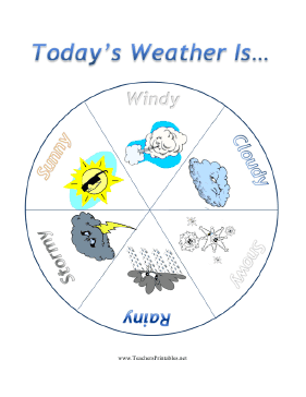 Daily Weather Chart Teachers Printable