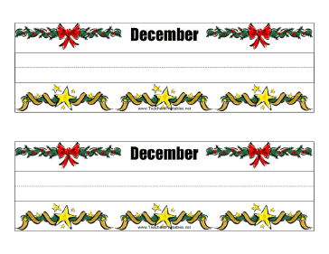 Desk Tag December Teachers Printable