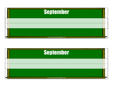 Desk Tag September Teachers Printable