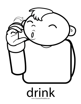 Drink Sign Teachers Printable