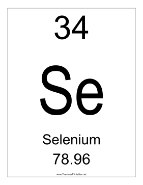 Selenium Teachers Printable