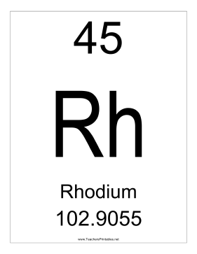 Rhodium Teachers Printable