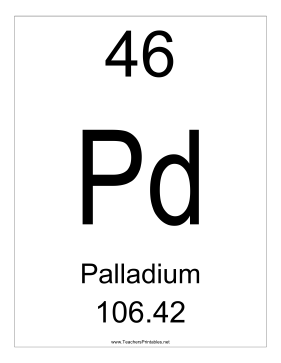 Palladium Teachers Printable