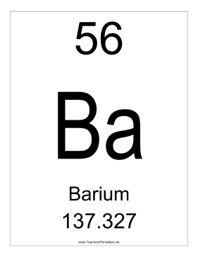 Barium Teachers Printable
