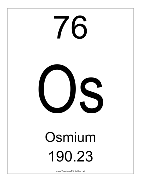 Osmium Teachers Printable