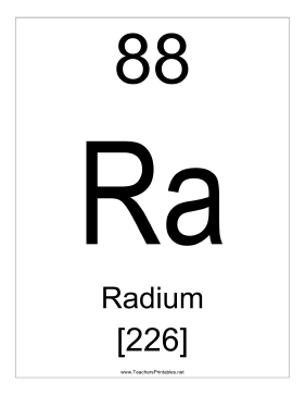Radium Teachers Printable