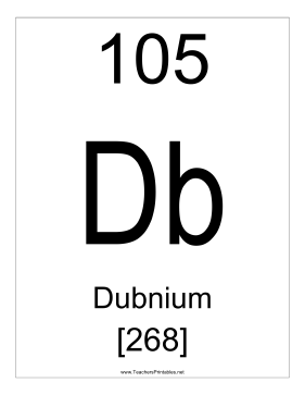 Dubnium Teachers Printable
