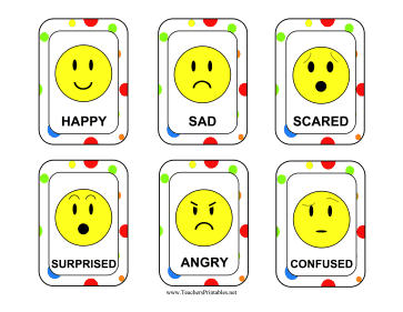 Emotion Cards Teachers Printable