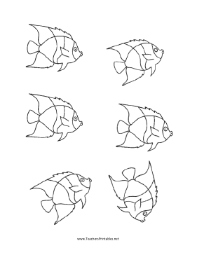 Fish Templates Teachers Printable