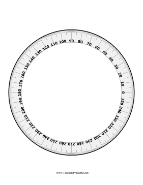 Full-Circle Protractor Teachers Printable