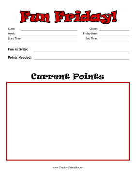 Fun Friday Form Teachers Printable