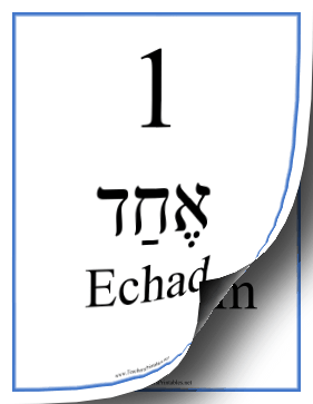 All Hebrew Numbers Masculine Teachers Printable