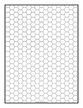 Hex half-inch Blackline Master Teachers Printable