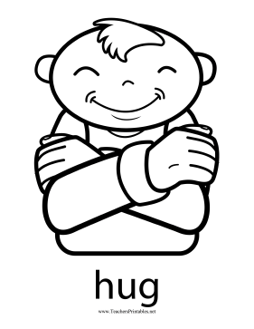 Hug Sign Teachers Printable