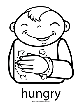 Hungry Sign Teachers Printable