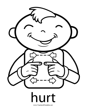 Hurt Sign Teachers Printable