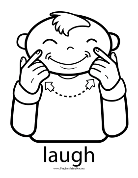 Laugh Sign Teachers Printable
