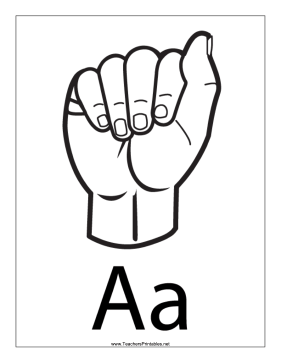 Letter A-Outline-With Label Teachers Printable