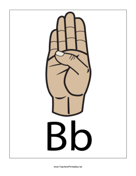 Letter B-Filled-With Label Teachers Printable