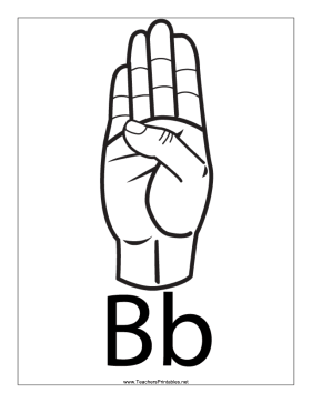 Letter B-Outline-With Label Teachers Printable