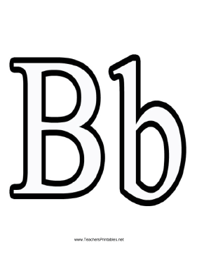 Letter B Teachers Printable