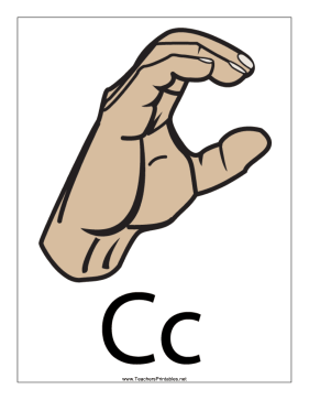 Letter C-Filled-With Label Teachers Printable